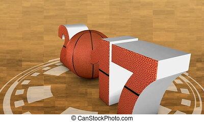 basketball and 2017 - basketball ball and volumetric...