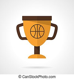Basketball award flat color design vector icon