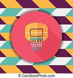 basketball backboard flat icon with long shadow,eps10