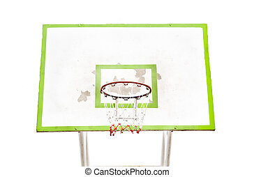 Basketball backboard isolated on white background