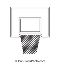 Basketball backboard net icon illustration design