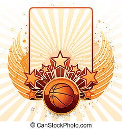 basketball background - vector background of basketball...