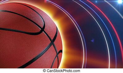 basketball background - spinning basketball seamless loop...