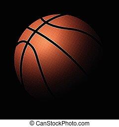basketball ball black