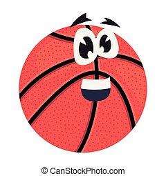 basketball ball cartoon character vector ilustration