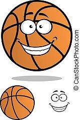 Basketball ball cartoon mascot character