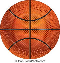 Detailed basketball ball illustration on white background.