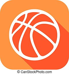basketball ball flat icon