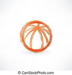 basketball ball grunge icon