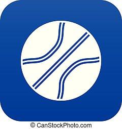 Basketball ball icon digital blue