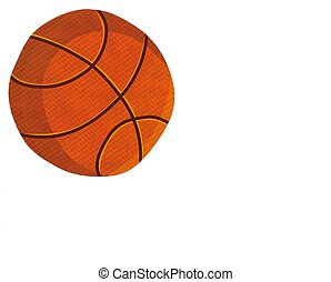 Basketbal Ball on a White card
