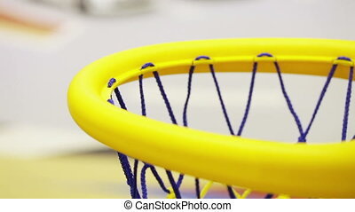 Basketball ball in basket