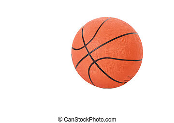 Basketball ball isolated in studio on white