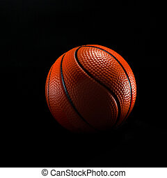 basketball ball isolated on black