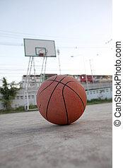 Basketball ball on street