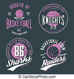 Basketball ball or sport game t-shirt design