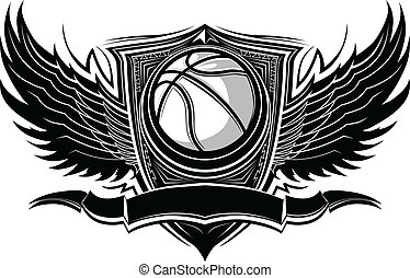 Basketball Ball Ornate Graphic Vect