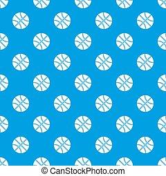 Basketball ball pattern seamless blue