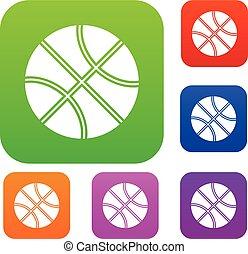 Basketball ball set collection
