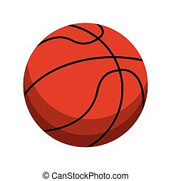 Basketball ball sport cartoon