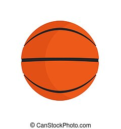 Basketball ball sport vector icon play game. Isolated circle orange equipment. Recreation element item club