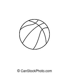 Basketball ball. Sports accessory. Vector illustration isolated on a white