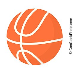 Basketball ball vector cartoon illustration.