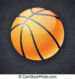 Basketball ball. - Vector illustration of realistic...