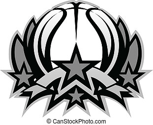 Basketball Ball Vector Graphic Temp - Graphic Template of...