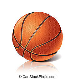 Basketball ball isolated on white photo-realistic vector illustration