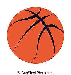 Basketball ball vector isolated design logo mark black fat lines orange white