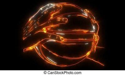basketball ball video laser animation
