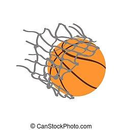 Basketball ball with a net