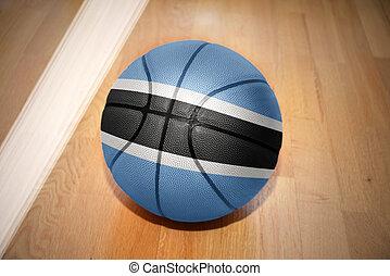 basketball ball with the national flag of botswana