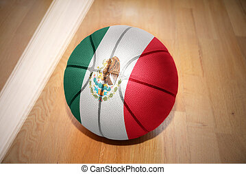 basketball ball with the national flag of mexico