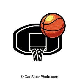 basketball balloon with basket board