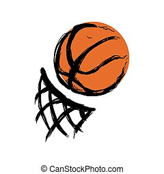 basketball balloon with basket net