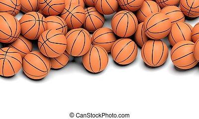 Basketball balls isolated on white background