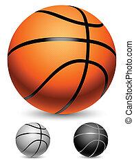 Basketball balls.