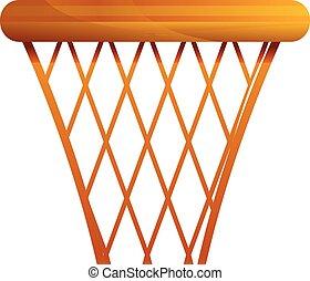Basketball basket icon, cartoon style