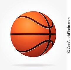 basketball, beschattet, vektor, stilisiert
