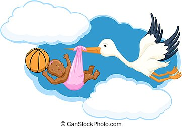 Basketball Black Baby Girl