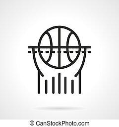 Basketball black line vector icon