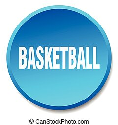 basketball blue round flat isolated push button