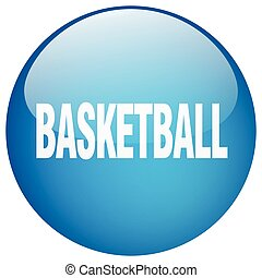 basketball blue round gel isolated push button