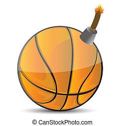 basketball Bomb illustration design over white design
