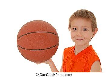Basketball Boy 17 - Young boy playing with a basketball...