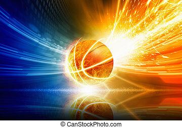 basketball, brennender