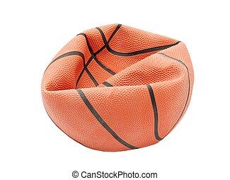Basketball - Broken basketball isolated on white background