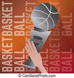 Basketball card poster